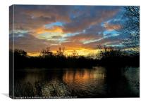 Hertfordshire sunrise, Canvas Print