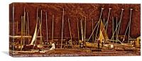 Traffic jam on the lake, Canvas Print
