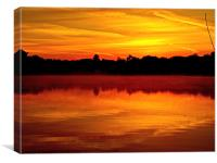 Sunrise in Rickmansworth, Canvas Print