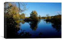 November blue skies and water, Canvas Print