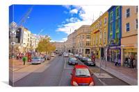 A high street in Cork City Ireland, Canvas Print