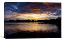Sunrise over the Aquadrome , Canvas Print