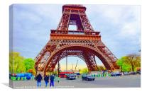 The Eiffel Tower, Canvas Print