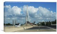 Pont De Normandie, Canvas Print
