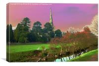 St Oswald's, Ashbourne, Canvas Print