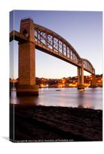 Tamar Railway Bridge, Canvas Print
