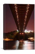 Under the Tamar Bridge, Canvas Print