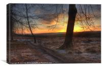sunrise on the chase, Canvas Print