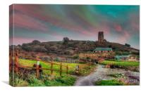 Wembury Church, Canvas Print