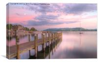 Water's edge Ambleside, Canvas Print