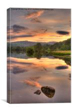 Rydal water at Sunset, Canvas Print