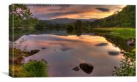 Rydal Water Sunset, Canvas Print