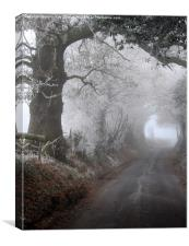 frosty morning in the lane, Canvas Print