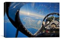 A pilot's eye view, Canvas Print