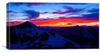 Stelvio Sunset, Italy, Canvas Print