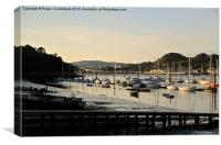 Conwy Marina Low Sun, Canvas Print