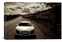 Audi R8 Snowdonia, Canvas Print