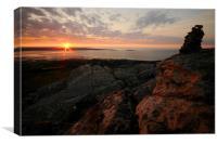 North Wales at Sunset(2), Canvas Print
