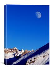 The Winter Moon, Canvas Print