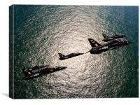 Diamond 9 Hawk T1 Formation, Canvas Print