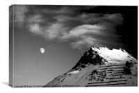 French Alps Tignes B&W, Canvas Print