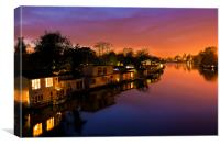 Sunset at Kingston upon Thames, Canvas Print