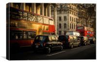 London rush hour, Canvas Print