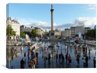 Trafalgar Square After The Rain, Canvas Print