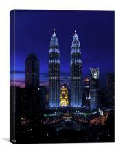 Petronas Towers in Kuala Lumpur, Canvas Print