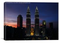 Petronas Towers in KL Malaysia, Canvas Print