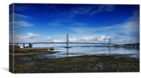 Forth Road Bridge in Scotland, Canvas Print