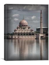 The Putra Mosque in Putrajaya, Canvas Print