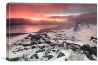 Sunrise at the old man of Storr, Canvas Print