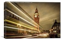 Houses of Parliament at night, London. , Canvas Print