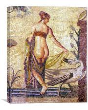 Roman Mosaic Paphos Cyprus, Canvas Print