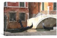 Venice Rush Hour, Canvas Print