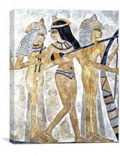 Egyptian Musicians, Canvas Print