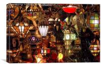 The light Shop Marrakesh, Canvas Print