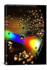 Water Drop Disc- Glow, Canvas Print