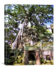 Angkor Temple Doorway, Canvas Print