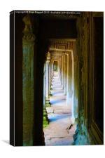 Corridor Angkor Wat, Canvas Print
