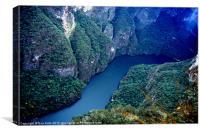 Sumidero Canyon, Canvas Print