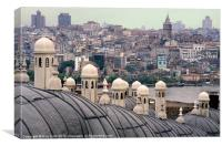 Istanbul Hamam Roofs, Canvas Print