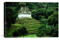 Maya Small Pyramid, Canvas Print