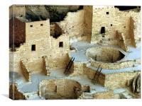 Cave Dwellings at Mesa Verde, Canvas Print