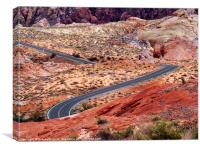 Road Through Valley of Fire, Canvas Print