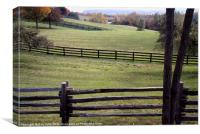 Fields and Fences, Canvas Print