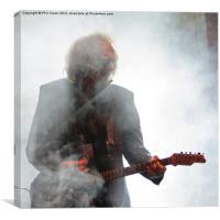 Francisco Simon blues guitar, Canvas Print
