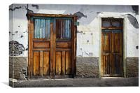 Old doors, Canvas Print