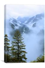 Yosemite rain clearing, Canvas Print